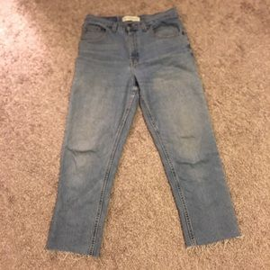Faded Glory Vintage Blue High Waisted Mom Jeans